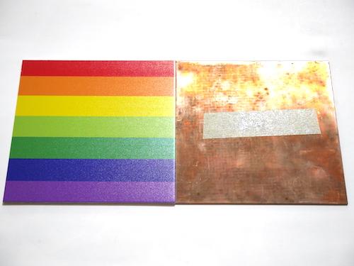 銅にインクジェット印刷